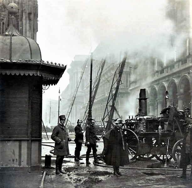 Incendio alla Rinascente 1918