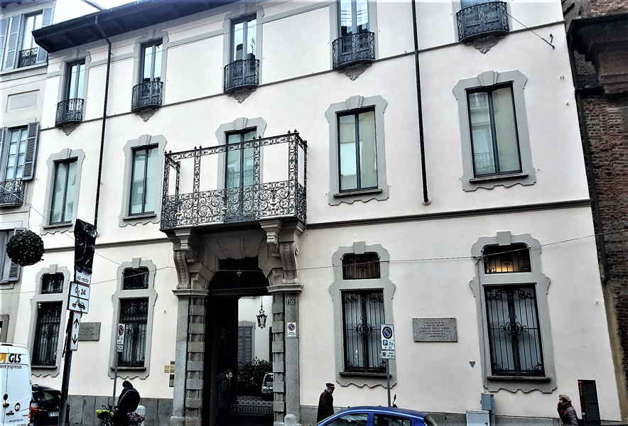 Via Durini 20 casa di Toscanini