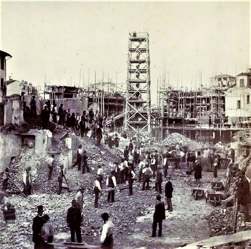 Inizio lavori Galleria di Milano - 1865