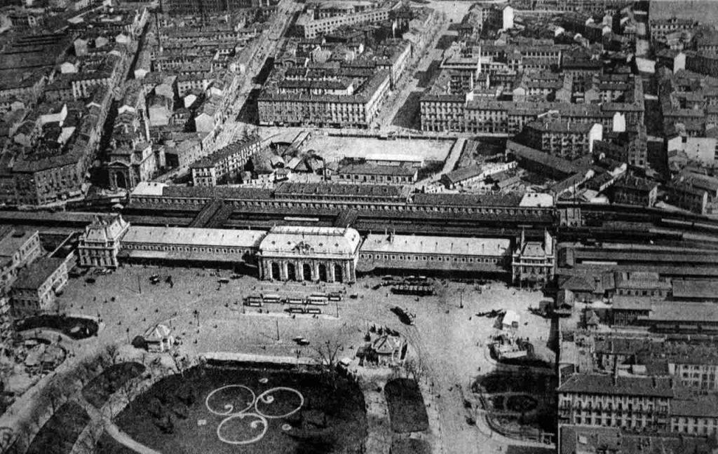 Stazione Centrale di Milano in piazza Fiume nel 1864