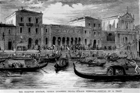 Stazione ferroviaria di Santa Lucia a Venezia nel 1866