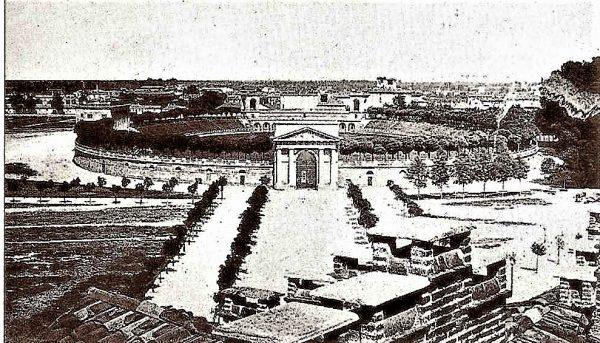 L'arena vista dalle mura del Castello