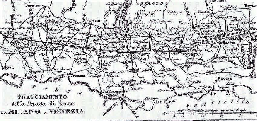 Progetto strada ferrata direttissima Venezia - Milano