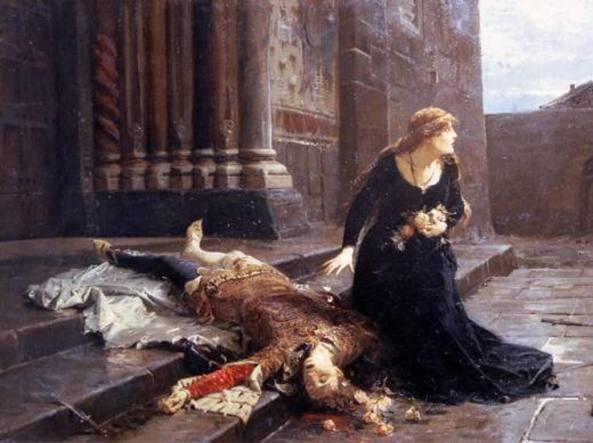 Quadro di Ludovico Pogliaghi «La morte di Giovanni Maria Visconti»