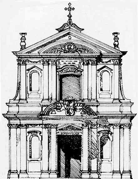 Disegno facciata chiesa san Donnino