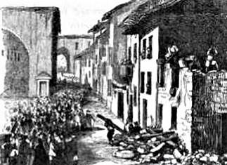 demolizione della casa di Mora