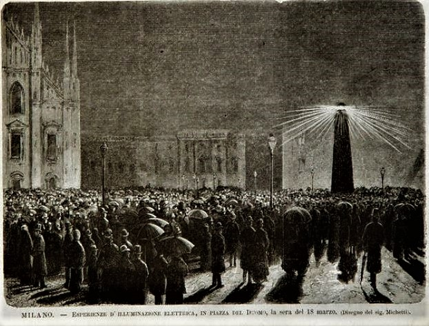 esperimento illuminazione Duomo 18 marzo 1877