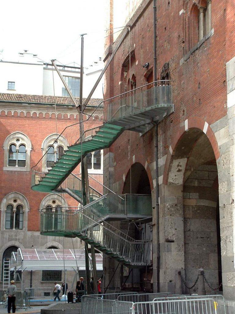 Scala di sicurezza del palazzo della Ragione.