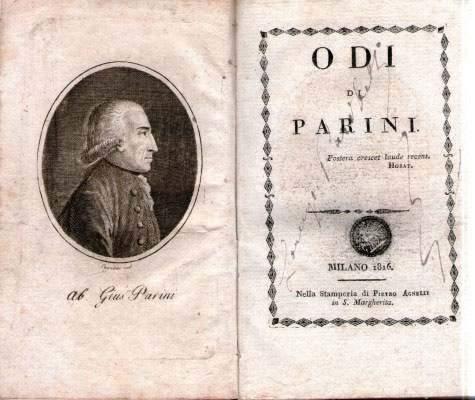 Copertina del libro delle Odi di Giuseppe Parini