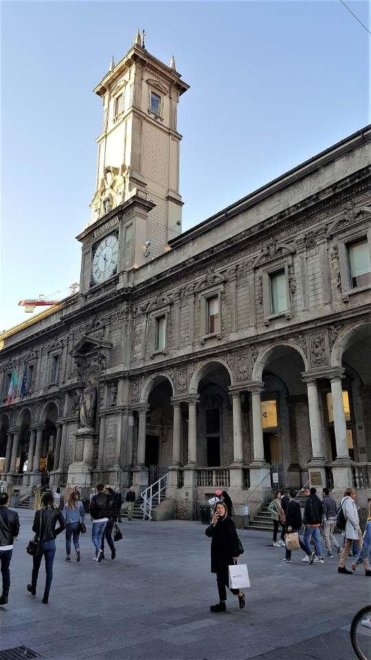 La Torre Civica inglobata nel Palazzo dei Giureconsulti