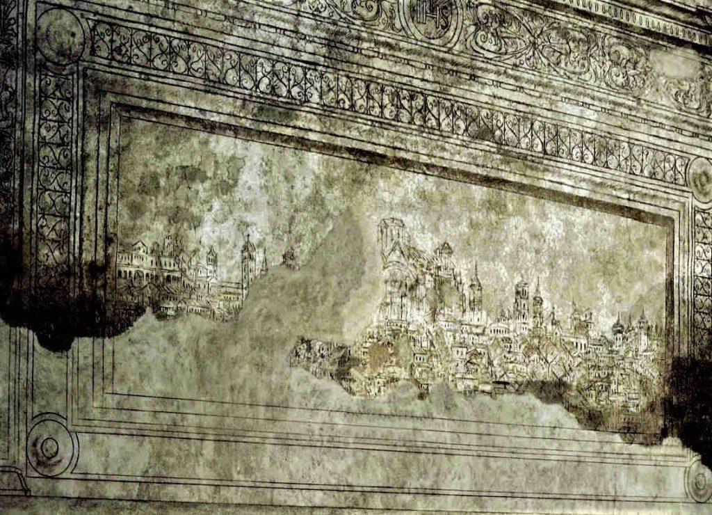 Graffito del Bramante c/o sala capitolare abbazia di Chiaravalle