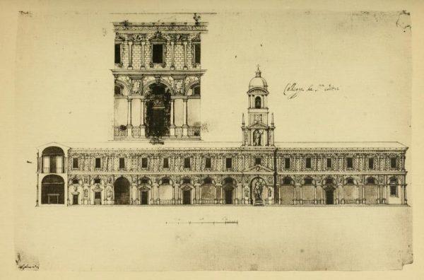 Palazzo dei Giureconsulti, progetto di Vincenzo Seregni precedente ai lavori del 1568
