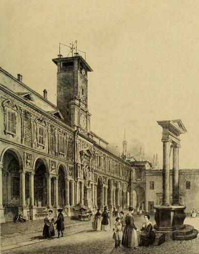 Palazzo dei Giureconsulti con la torre civica