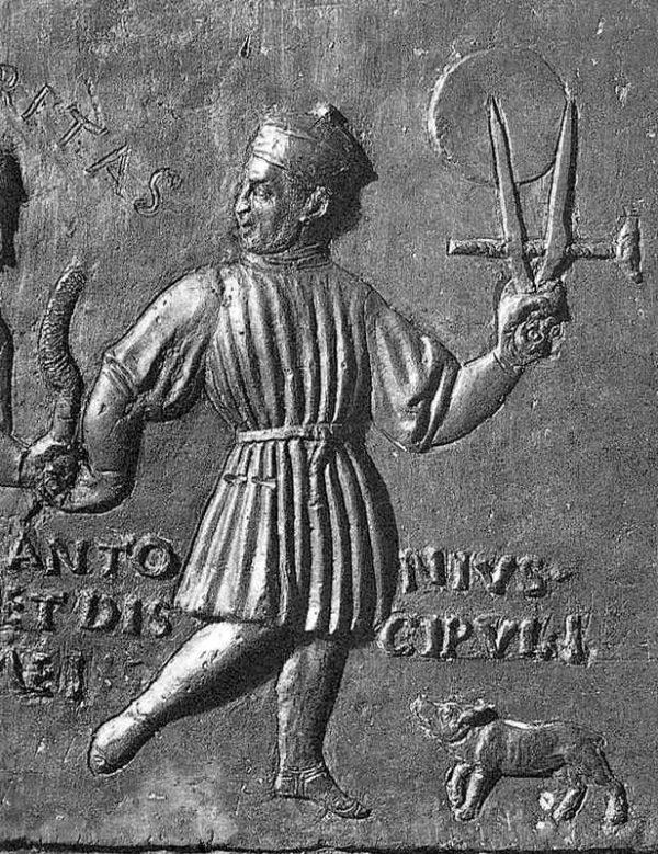 Autoritratto del Filarete (con firma)