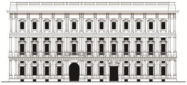 Palazzo Marino - prospetto su piazza della Scala