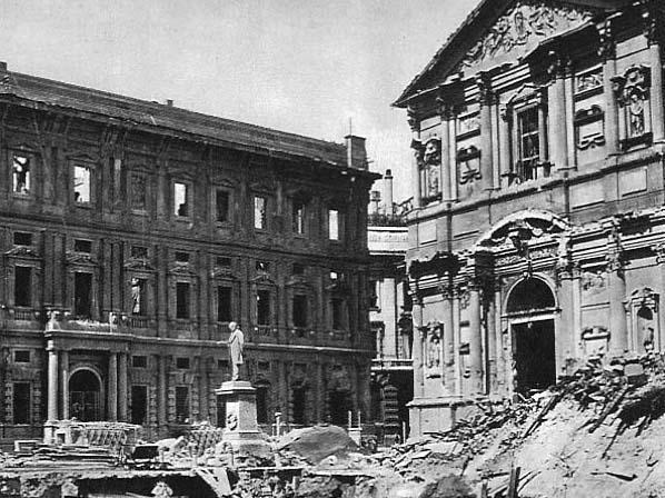Pslazzo Marino bombardato