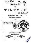 Il Manuale del Tintore di Roberto Lepetit
