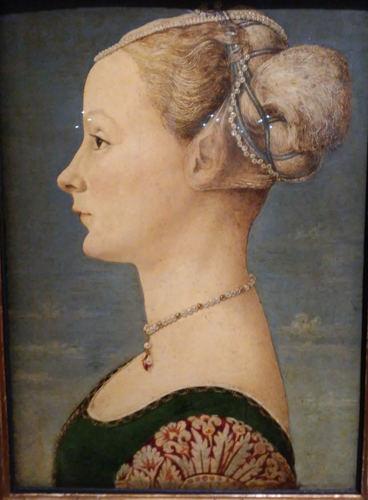 Dama del Pollaiolo (1470-72) simbolo del museo lo del Museo Poldi Pezzoli