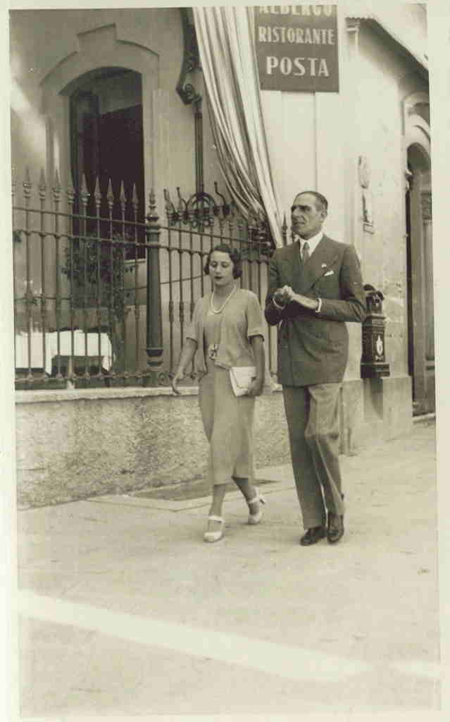 Angelo Necchi e Gigina in una foto degli anni trenta