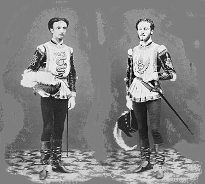 Fausto e Giuseppe in costume per un torneo