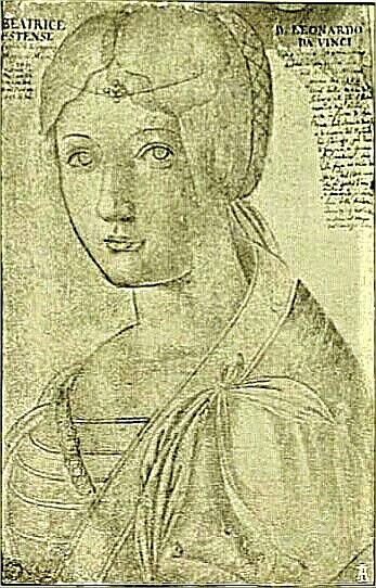 ritratto di Beatrice d'Este (fatto da Leonardo)