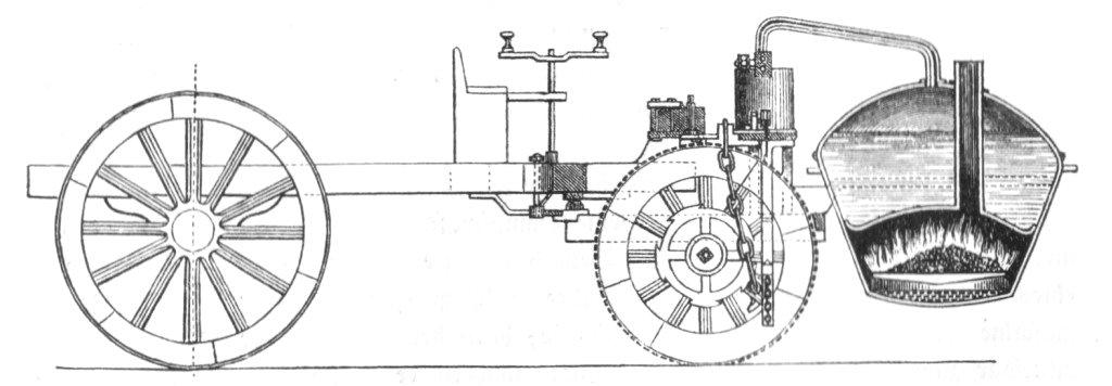 macchina a vapore di Nicholas Cugnots