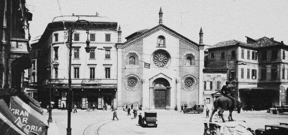 San Giovanni in Conca prima dell'arretramento della facciata