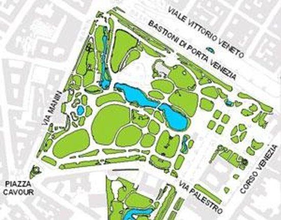 Piantina Giardini Pubblici Indro MontanelliPiantina Giardini Pubblici