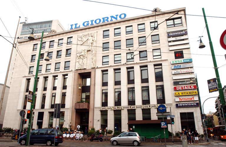 Vecchia foto del Palazzo dei giornali o palazzo dell'informazione