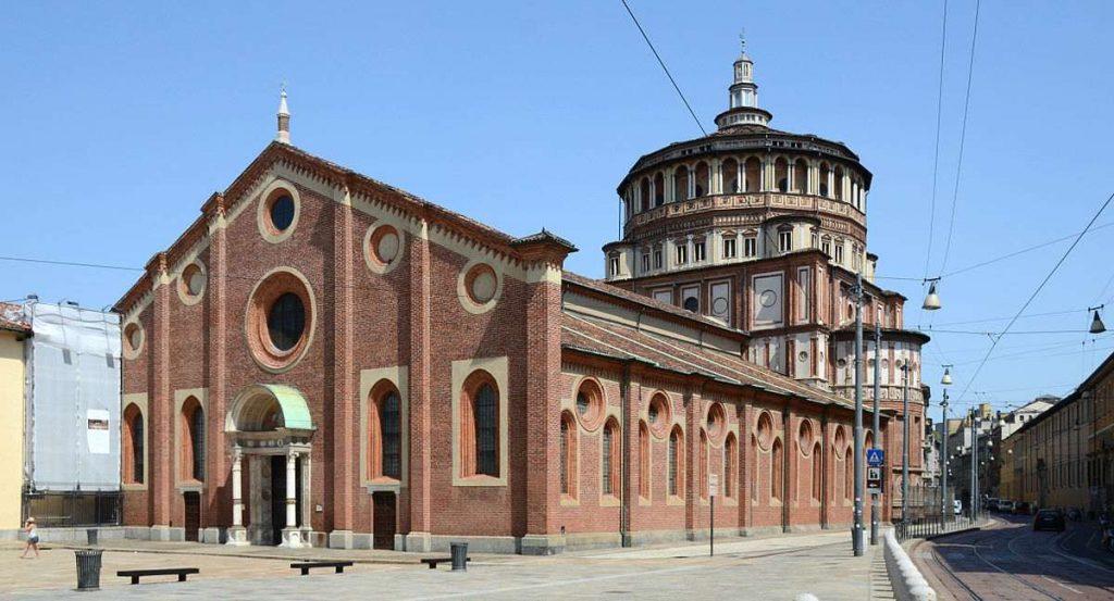 Facciata della Basilica di Santa Maria delle Grazie
