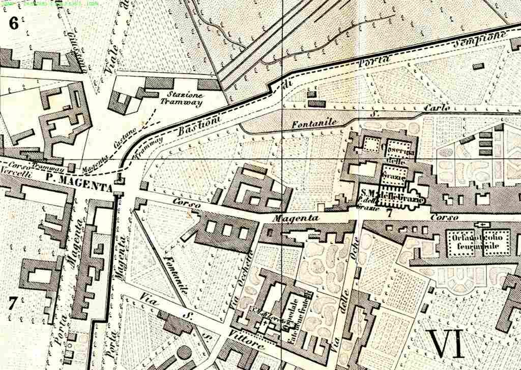 Mappa Porta Magenta 1883
