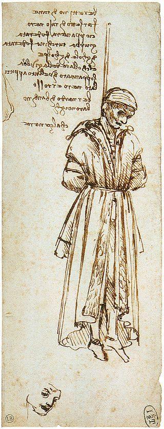 l'impiccato di Leonardo da Vinci (Museo Bonnat di Bayonne)