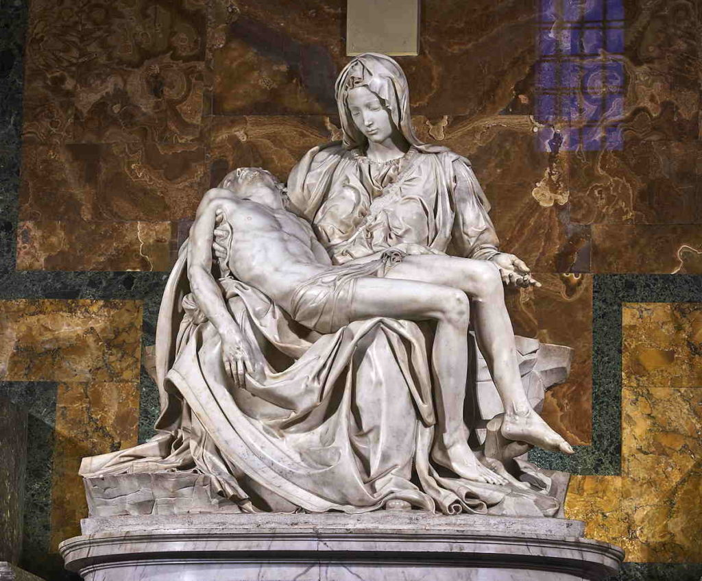 La Pietà di Michelangelo (San Pietro -Roma)
