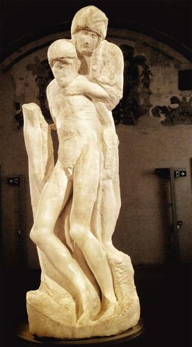 La Pietà Rondanini (Castello Sforzesco - Milano)La Pietà Rondanini (Castello Sforzesco - Milano)