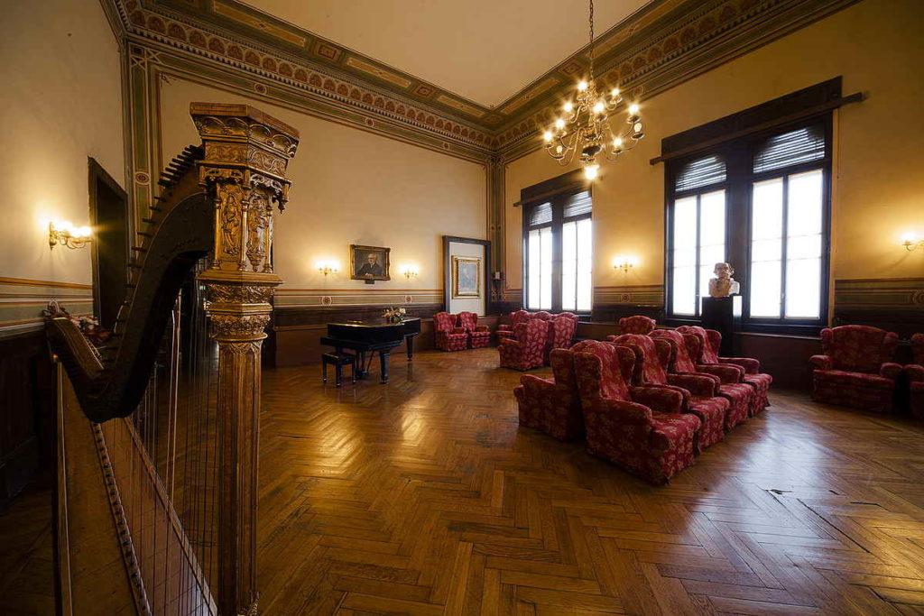 Casa Verdi -Altra vista della sala Toscanini