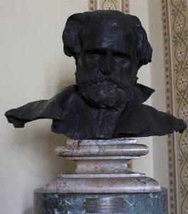 Busto in bronzo di Giuseppe Verdi (opera di Vincenzo Gemito)