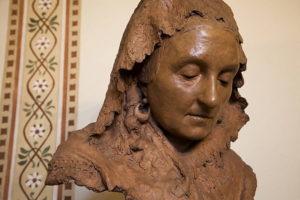Busto in terracotta di Giuseppina strepponi (opera di Vincenzo Gemito)